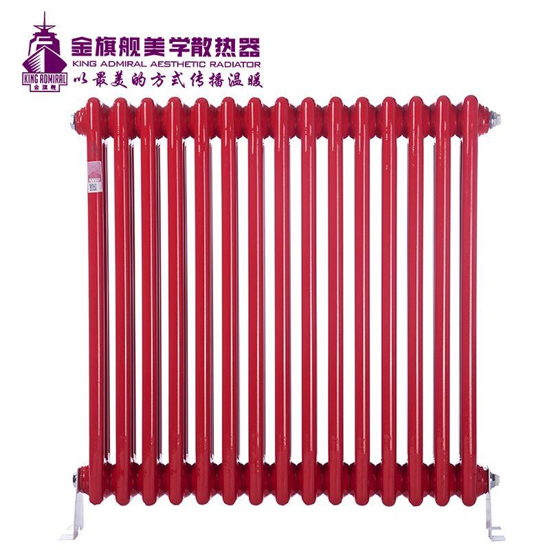 钢制散热器三柱红色