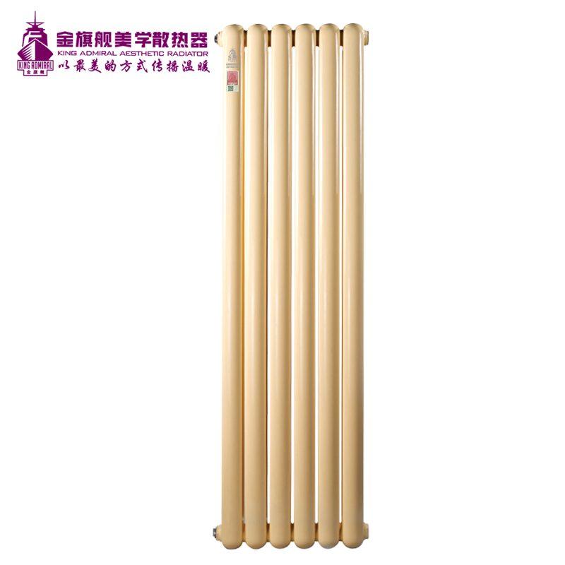 钢制散热器60圆麦黄高