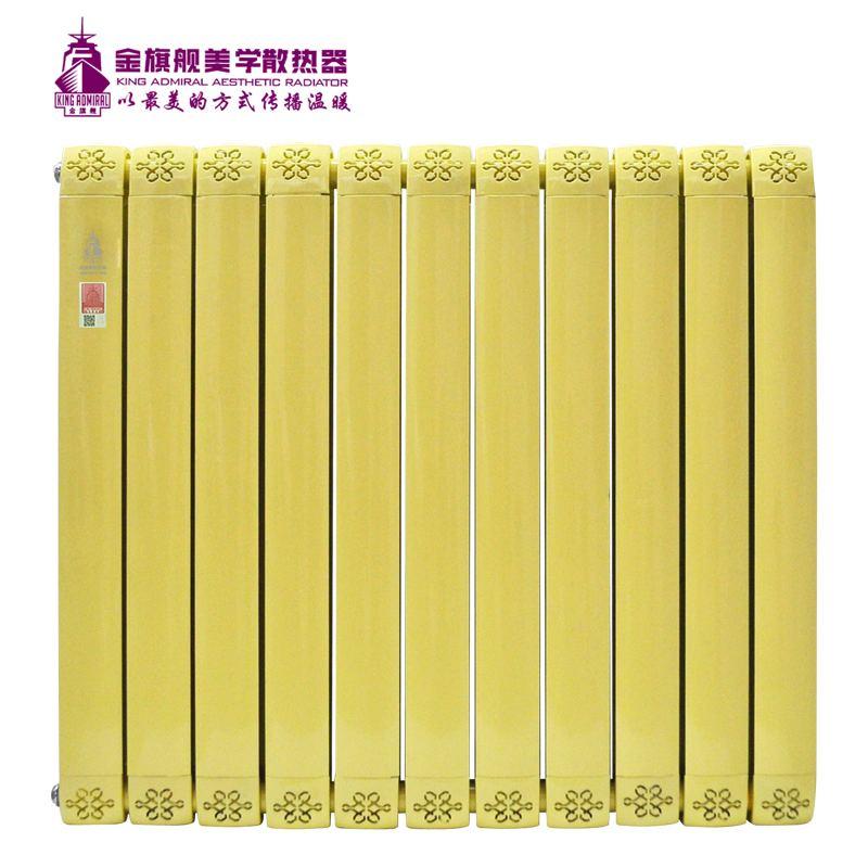 铜铝复合散热器80x80黄色