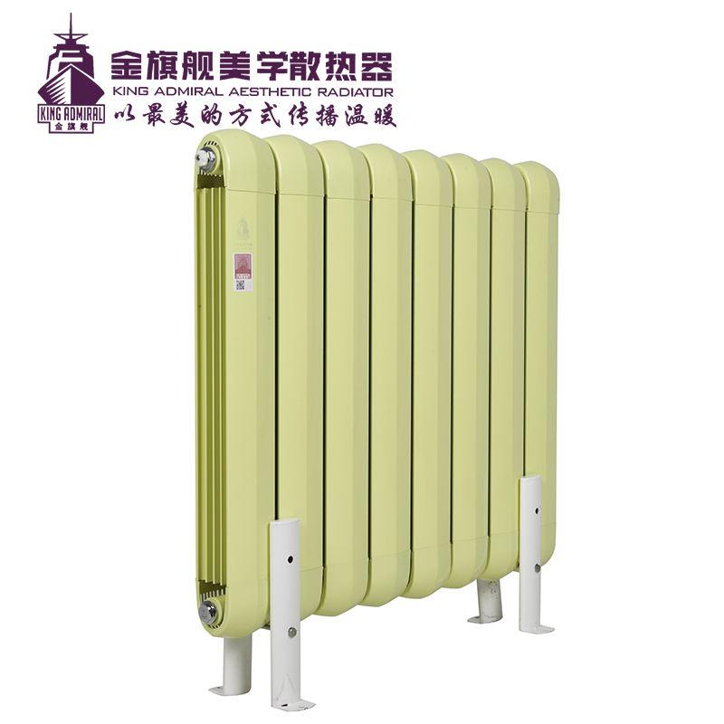 铜铝复合散热器85x85黄色