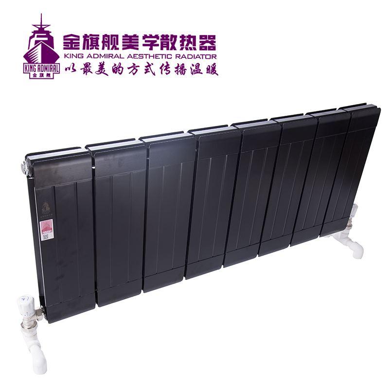 铜铝复合散热器132x60 黑色