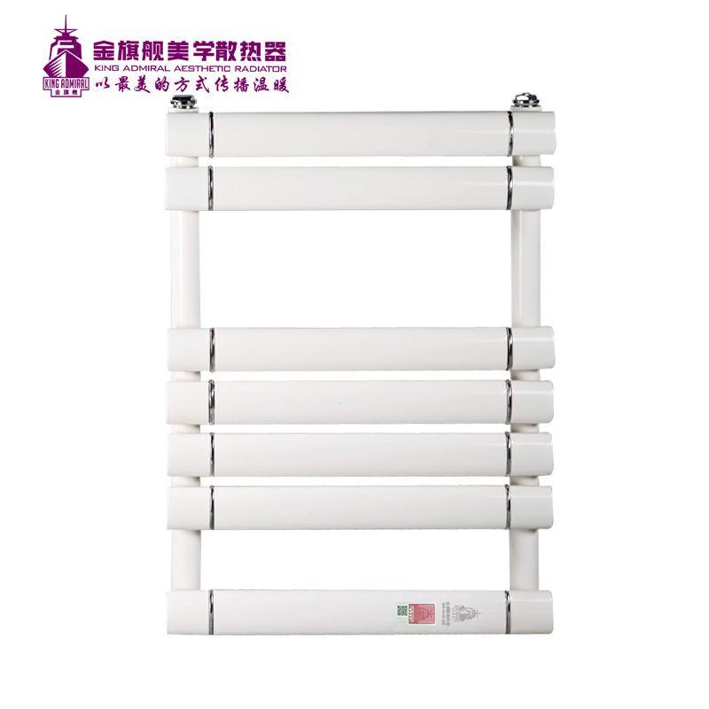 铜铝复合散热器单层插接平板卫浴600-白色