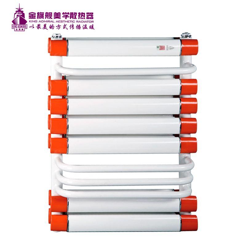 铜铝复合散热器单背白+橘红